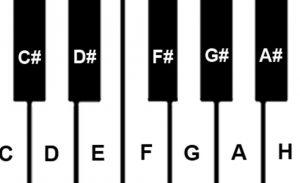 Die Klaviatur spielen lernen